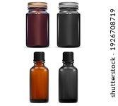 brown essential oil vial. dark...   Shutterstock .eps vector #1926708719