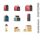 bundle of nine buildings... | Shutterstock .eps vector #1926722900