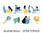 group of four persons with... | Shutterstock .eps vector #1926725423