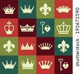 seamless crowns pattern | Shutterstock .eps vector #192672590