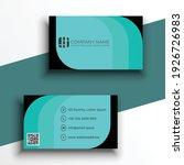 business card template  light... | Shutterstock .eps vector #1926726983