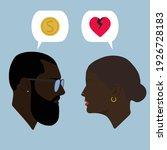 silhouettes. dialogue. black... | Shutterstock .eps vector #1926728183