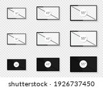 screen diagonal size in 32  43  ... | Shutterstock .eps vector #1926737450