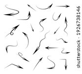 hand drawn arrows collection.... | Shutterstock .eps vector #1926738146