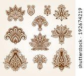 ornamental flowers. vector set... | Shutterstock .eps vector #192674219