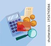 tax receipt with financial set... | Shutterstock .eps vector #1926743066