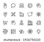 vector set of creativity line... | Shutterstock .eps vector #1926750233