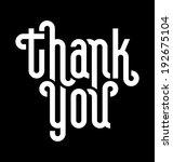 thank you lettering    custom... | Shutterstock .eps vector #192675104
