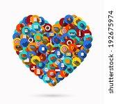 vector modern heart icons set... | Shutterstock .eps vector #192675974