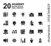 icon set of academy. glyph... | Shutterstock .eps vector #1926764819