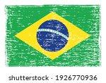 vector grunge flag of brazil. | Shutterstock .eps vector #1926770936