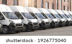 Delivery Vans In A Row. ...