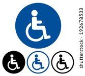 disabled handicap icon | Shutterstock .eps vector #192678533