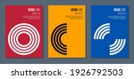 colorful brochure cover with... | Shutterstock .eps vector #1926792503