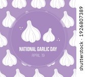 national garlic day vector card ...   Shutterstock .eps vector #1926807389