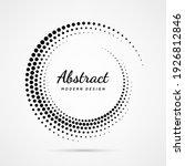 circular dot frame. circle... | Shutterstock .eps vector #1926812846