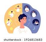 day night rhythm. natural sleep ... | Shutterstock .eps vector #1926813683