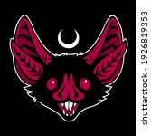 malevolent stylized grinned bat ... | Shutterstock .eps vector #1926819353