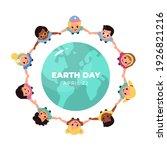 kids earth world day. children... | Shutterstock .eps vector #1926821216