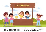 children lemonade. happy kids...   Shutterstock .eps vector #1926821249