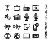 media icon set. raster version | Shutterstock . vector #192682763