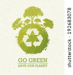 go green save our planet eco... | Shutterstock .eps vector #192683078