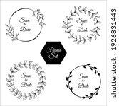 set of floral frames. rustic...   Shutterstock .eps vector #1926831443