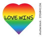 love wins. vector illustration... | Shutterstock .eps vector #1926841136