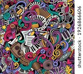 music hand drawn doodles...   Shutterstock .eps vector #1926866606