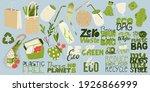 zero waste elements and slogan... | Shutterstock .eps vector #1926866999