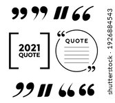 quote frames. blank template box | Shutterstock . vector #1926884543