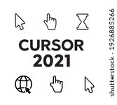 pixel cursors icons. mouse... | Shutterstock . vector #1926885266