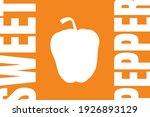 fresh bell pepper silhouette....   Shutterstock .eps vector #1926893129