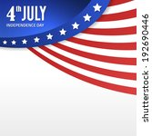 vintage independence day poster.... | Shutterstock .eps vector #192690446