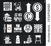 set of 13 bar filled icons such ... | Shutterstock . vector #1926908480