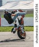 Motorcyclist Performs Dangerous ...