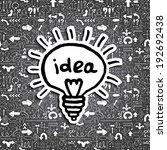 light bulb icon on arrow filled ...   Shutterstock . vector #192692438
