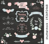 cute wedding collection with... | Shutterstock .eps vector #192692468