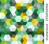 hexagon grid green seamless...