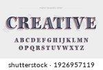blue vintage retro custom label ... | Shutterstock .eps vector #1926957119