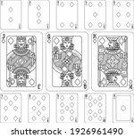 playing cards diamonds set in... | Shutterstock .eps vector #1926961490