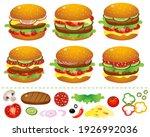 hamburgers or cheeseburgers... | Shutterstock .eps vector #1926992036