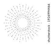 sunburst line icon isolated on...   Shutterstock .eps vector #1926994466