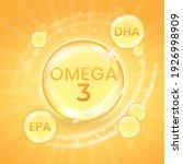 omega 3 fatty acid supplement ... | Shutterstock .eps vector #1926998909