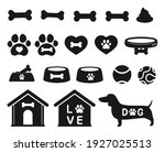 pet shop icon set accessory for ... | Shutterstock .eps vector #1927025513