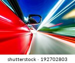 a car driving on a motorway at... | Shutterstock . vector #192702803
