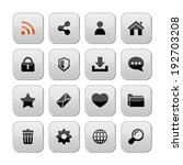web icons  buttons  vector. | Shutterstock .eps vector #192703208