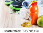 fitness equipment and healthy... | Shutterstock . vector #192704513