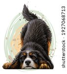 playing dog. wall sticker.... | Shutterstock .eps vector #1927068713