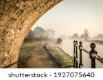 Stone Bridge Beautiful Foggy...